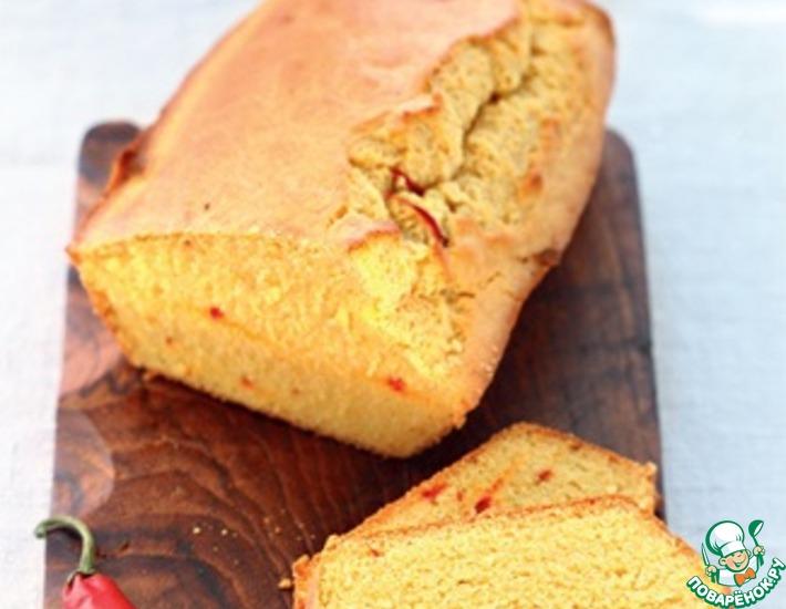 Рецепт: Хлеб с перцем Чили и сыром Чеддер