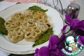 Рецепт: Равиоли Цветы Италии