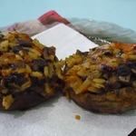 Постные фаршированные грибные шляпки