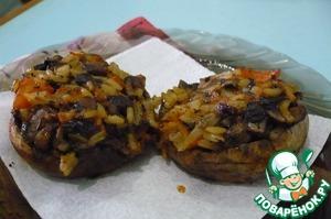 Рецепт Постные фаршированные грибные шляпки