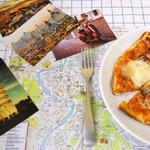 Пицца с моцареллой и беконом