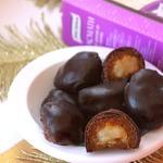 Рисовые ириски в кураге с горьким шоколадом