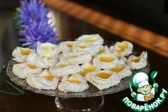 Рецепт: Итальянские меренги с лимонным курдом