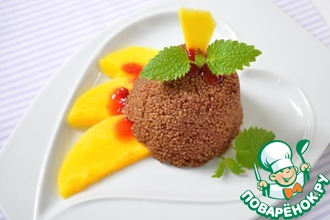 Рецепт: Шоколадный кускус с теплым манго и мятой