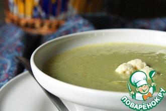 Рецепт: Постный гороховый суп-пюре с овощами