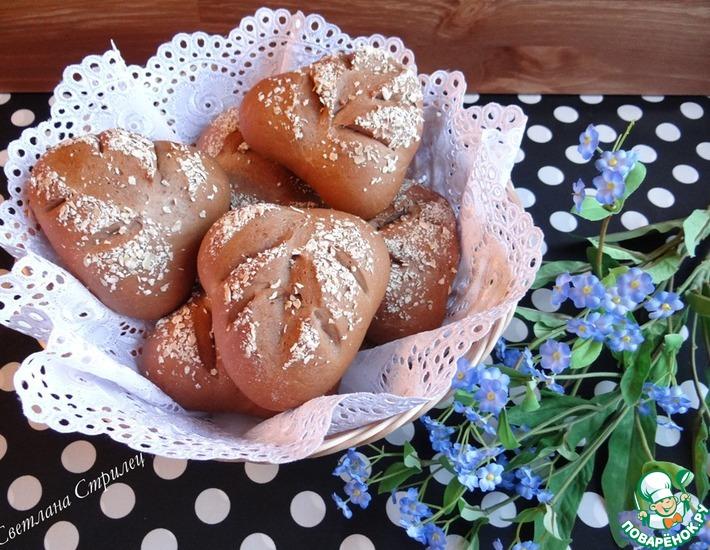 Рецепт: Шоколадные булочки Листочки