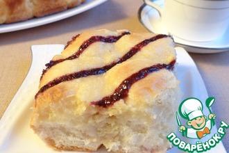 Рецепт: Пирог со сливочным творожным сыром