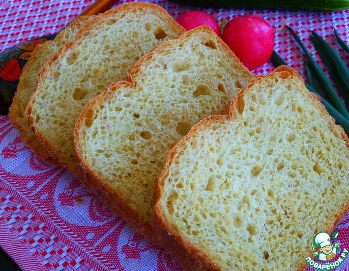 Рецепт: Хлеб из овсяных хлопьев с кукурузной мукой