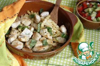 Рецепт: Макаронный гратин с курицей по-итальянски