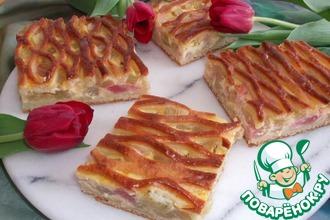 Рецепт: Пирог из ревеня Решётка