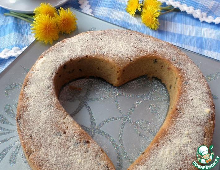 Рецепт: Постный пирог с сухофруктами на чайной заварке