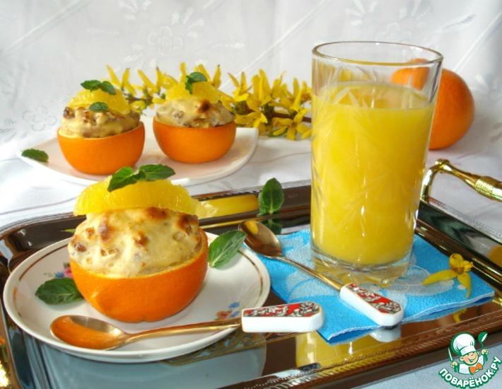 Рецепт: Нежный апельсиново-пряный десерт