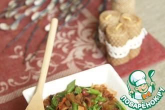 Рецепт: Солянка с фасолью и вустерширским соусом