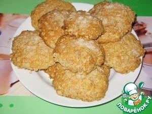 Рецепт Быстрое печенье из овсяных хлопьев