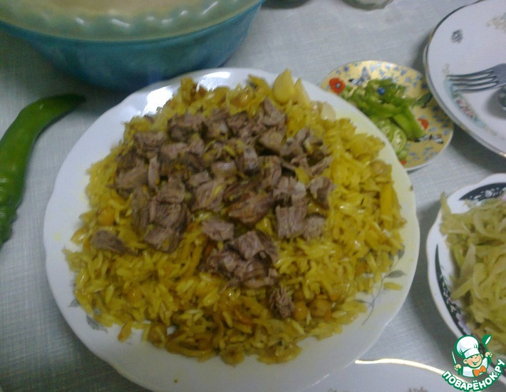 Рецепт: Ташкентский плов домашний