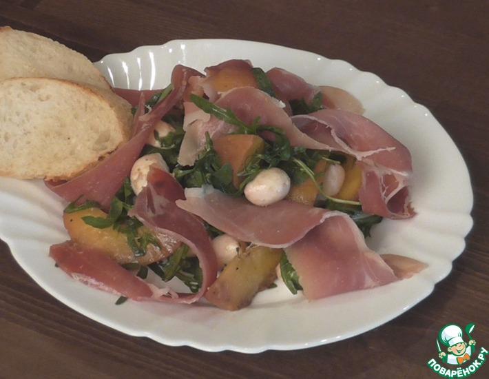 Рецепт: Салат с ветчиной и моцареллой