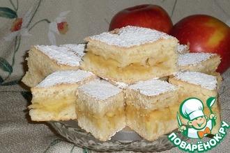Рецепт: Мягкое печенье Яблочное наслаждение