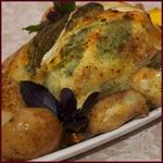 Курица, фаршированная лимоном и шалфеем
