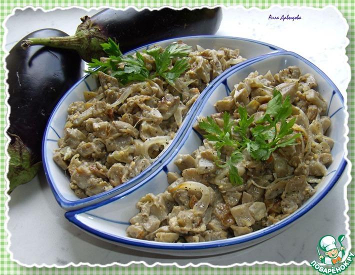 Рецепт: Салат Ложный гриб