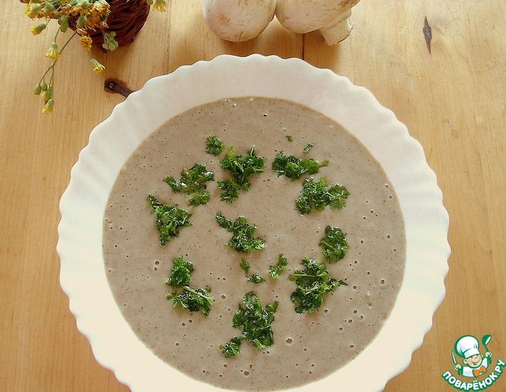 Рецепт: Картофельно-грибной крем-суп