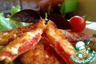 Рецепт: Жареные помидоры в сырном кляре