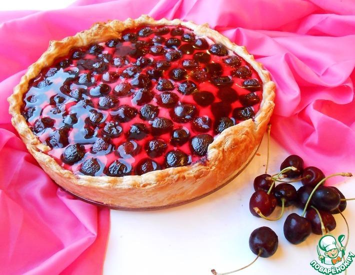Рецепт: Творожный пирог с черешней
