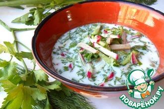 Рецепт: Окрошка по-узбекски Чалоп