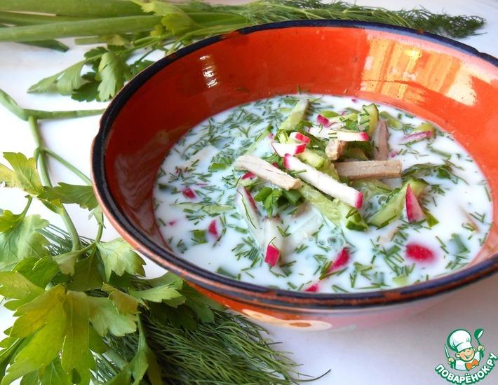 Рецепт: Окрошка по-узбекски (чалоп)