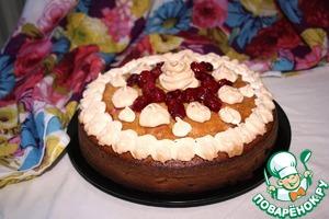 Рецепт Вишневый пирог с оливковым маслом, лаймом и безе