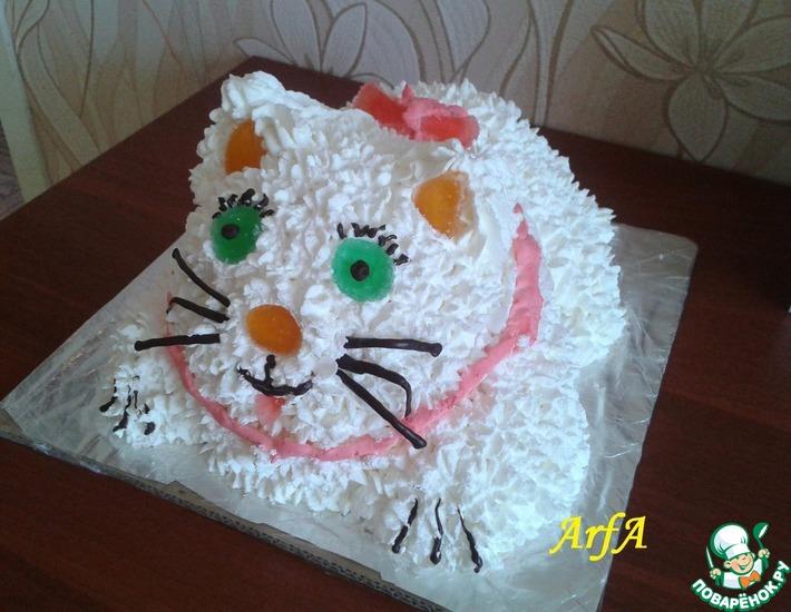 Рецепт: Торт Пушистый котенок