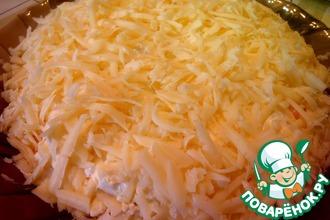 Рецепт: Салат Рафаэлло с курицей и грибами