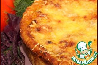 Рецепт: Открытый мясной пирог из кольраби