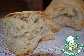 Рецепт: Домашний хлеб без замеса на закваске