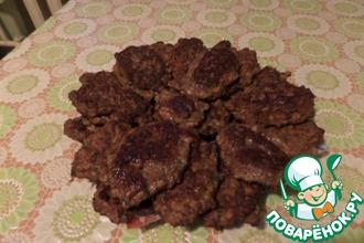 Рецепт: Печеночные котлетки с овсяными хлопьями