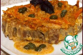 Рецепт: Сочный ростбиф Эстерхази с овощной соломкой