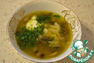 Рецепт: Суп грибной с галушками