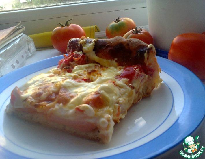 Рецепт: Домашний пирог-пицца