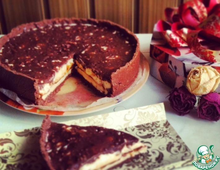 Рецепт: Торт с молочной начинкой