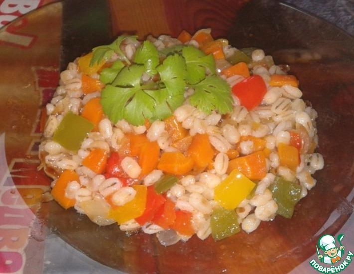 Рецепт: Перловая кашка с овощами Калейдоскоп