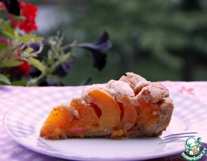Рецепт: Абрикосово-арахисовый пирог на полбовой муке