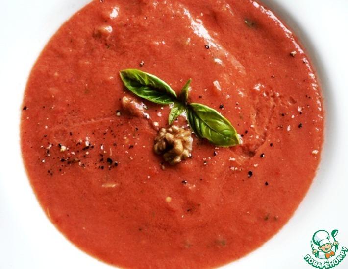 Рецепт: Томатный крем-суп с грецкими орехами