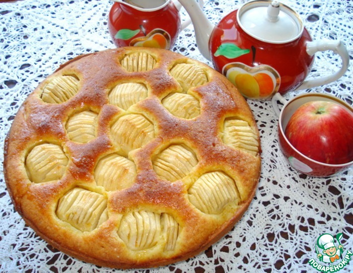Рецепт: Пирог с яблоками Восхитительный-2