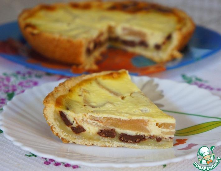 Рецепт: Пирог с грушами и шоколадом