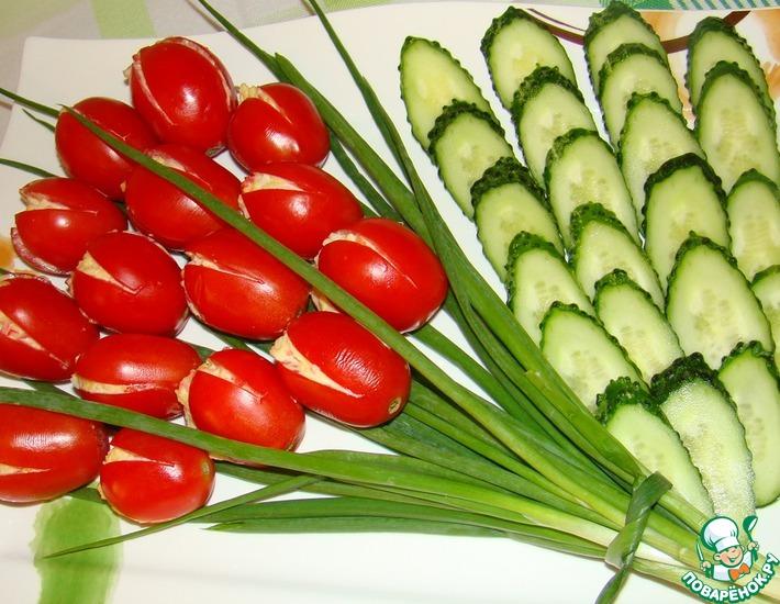 Рецепт: Салат тюльпан