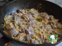 Куриная печень в сметанном соусе ингредиенты