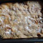 Ржано-пшеничный пирог с яблоками