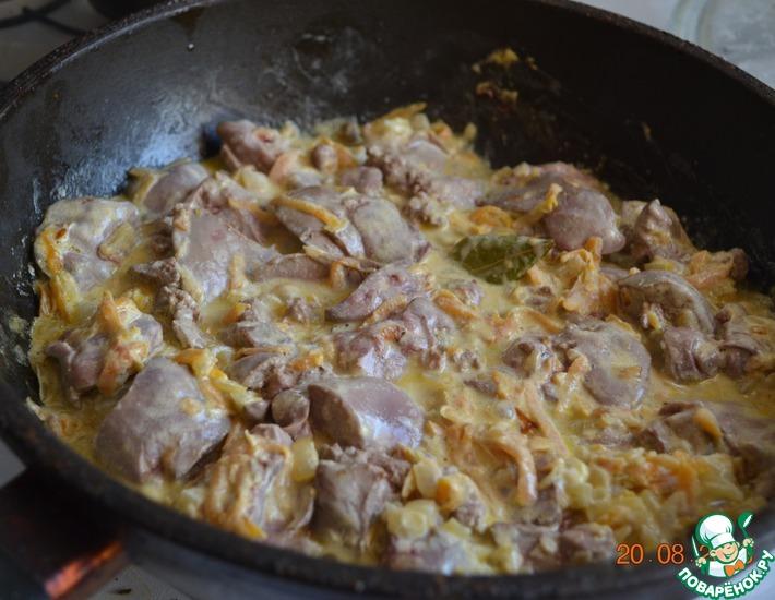 Куриная печень с морковью в сметане рецепты пошагово
