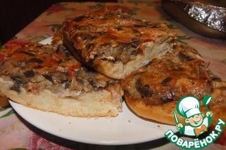 Рецепт: Пирог Заливной с баклажанами