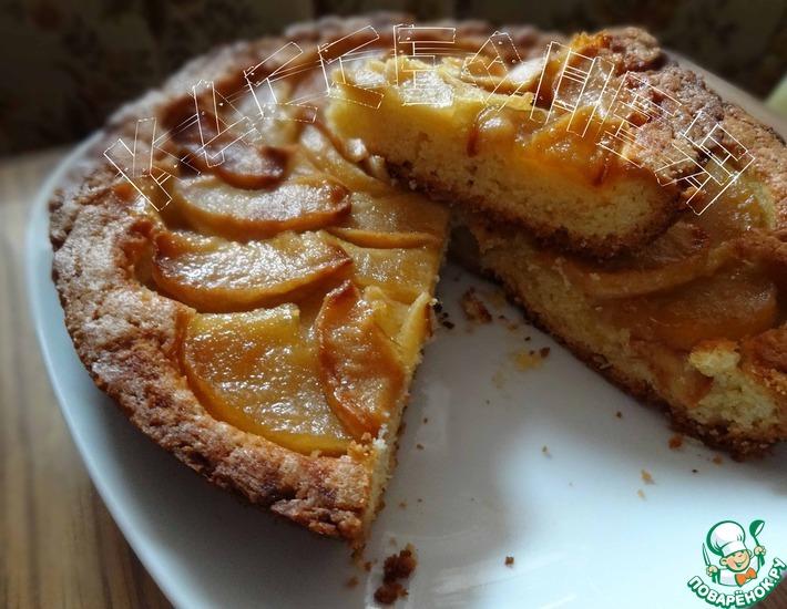 Рецепт: Грушевый (яблочный) пирог Наслаждение