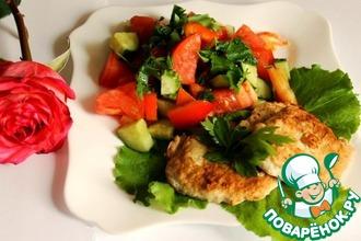 Рецепт: Диетические куриные оладьи